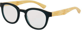 Eyebobs Gone Fishing Round Acetate/Bamboo Reading Glasses, +1.25