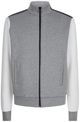 Fendi Logo Stripe Zip Up Sweater
