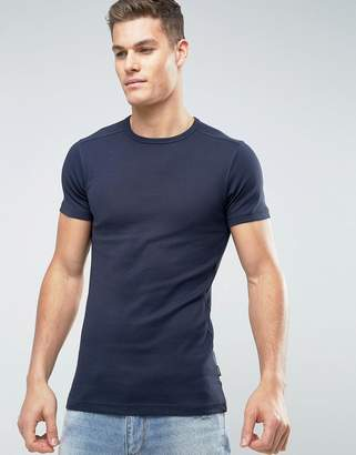 Lindbergh Basic Muscle Fit T-Shirt