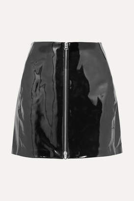 Rag & Bone Heidi Patent-leather Mini Skirt - Black