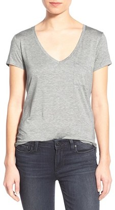 Women's Paige 'Lynnea' V-Neck Pocket Tee $80 thestylecure.com