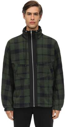 McQ Check Wool Blend Zip-up Jacket
