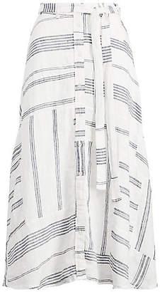 Polo Ralph Lauren (ポロ ラルフ ローレン) - [POLO RALPH LAUREN(ウィメンズ)] パッチワーク リネン スカート