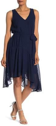 Gabby Skye Sleeveless V-Neck Asymmetrical Hem Dress