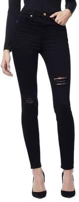 Good American Good Waist Side Slit Skinny Jeans