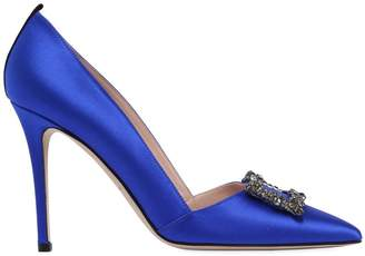 Sarah Jessica Parker 100mm Windsor Embellished Satin Pumps