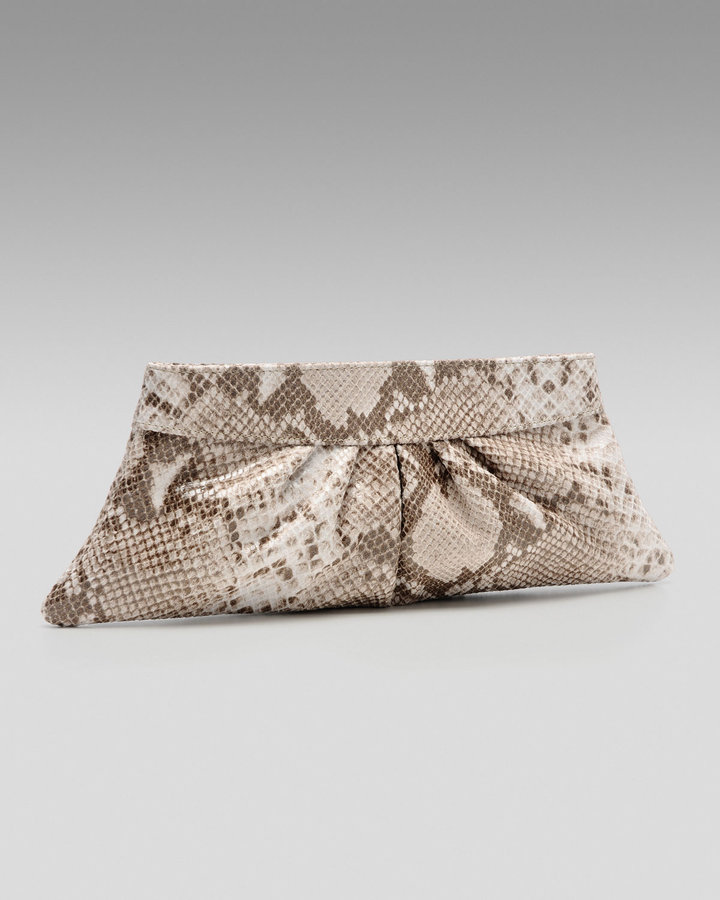 Lauren Merkin Exclusive Louise Python-Embossed Clutch