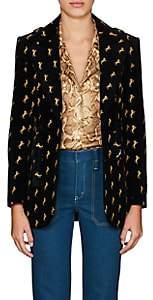 Chloé Women's Archival Embroidery Velvet Jacket - Black