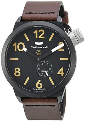 Vestal ' Canteen Italia' Quartz Stainless Steel and Leather Dress Watch