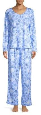 Karen Neuburger Three-Piece Pajama & Booties Set