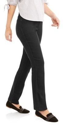 RealSize Women's Stretch Denim Pull-On Bootcut Jeans