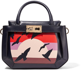 Tina Craig for Gianfranco Lotti Galaga small printed paneled leather tote