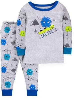 Little Star Organic Cotton Long Sleeve Tight Fit Pajamas, 2pc Set (Baby Boys & Toddler Boys)