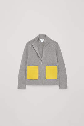 Cos ZIP-UP KNITTED CARDIGAN