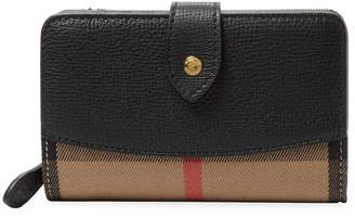 Burberry Women's Leather Plaid Wallet