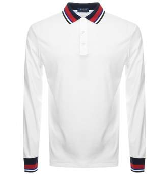 Ralph Lauren Slim Fit Tipped Polo T Shirt White