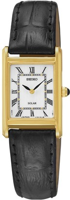 Seiko Women's Solar Leather Watch - SUP250