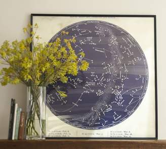 Pottery Barn Vintage Astronomical - Blue
