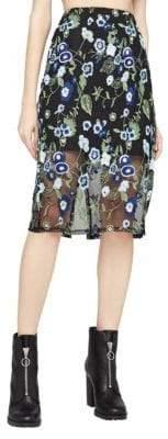 BCBGeneration Floral Embroidered Skirt