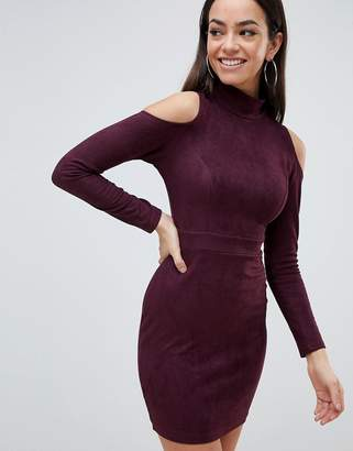 AX Paris Cold Shoulder Long Sleeve Bodycon Dress
