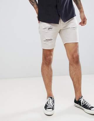 Brave Soul frayed Hem denim Shorts