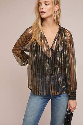 Antik Batik Metallic Striped Blouse