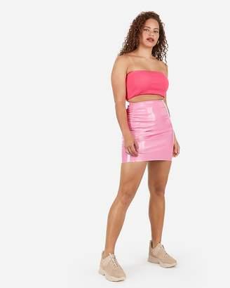 Express X Karla High Waisted Latex Mini Skirt