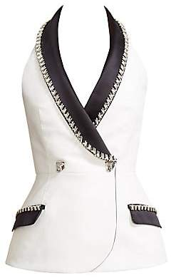 Ralph and Russo Women's Sleeveless Double Breasted Blazer Top