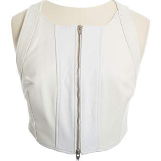 Alexander Wang White Leather Tops