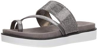 Kenneth Cole Reaction Women's Slam Shot Toe Ring and Micro-Jewel Strap Flat Sandal