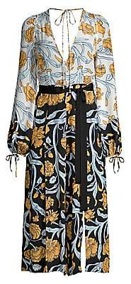 Alice McCall Women's Everything Floral Paisley Peasant Jumpsuit - Size 0