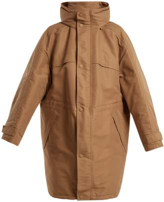 Funnel-collar padded coat