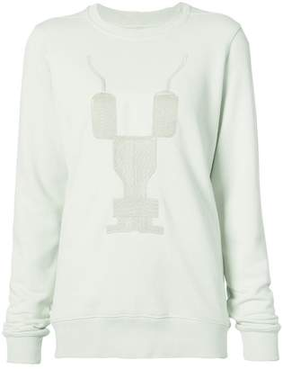 Rick Owens embroidered crew neck sweatshirt