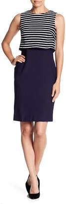 Eliza J Sleeveless Popover Sheath Dress