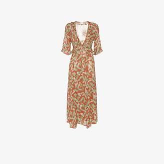 4694cf485832ba Leone We Are Leaf print silk maxi robe