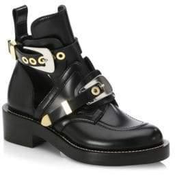 Balenciaga Cutout Leather Creeper Boots