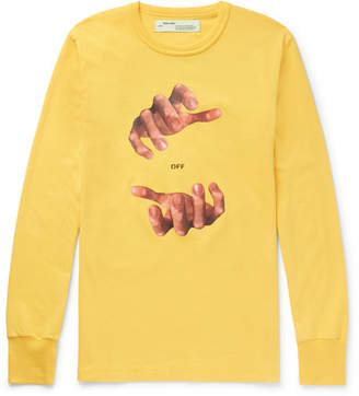 Hands Oversized Printed Cotton-Jersey T-Shirt