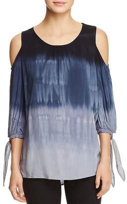 XCVI Hadley Tie-Dye Cold-Shoulder Blouse