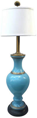 One Kings Lane Vintage Italian Blue Glass Table Lamp