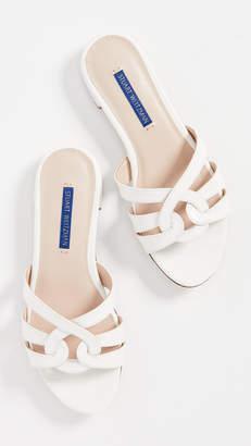 2f773b55a5bc Stuart Weitzman White Leather Sole Women s Sandals - ShopStyle