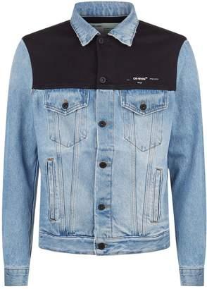 Off-White Denim Sweatshirt Jacket
