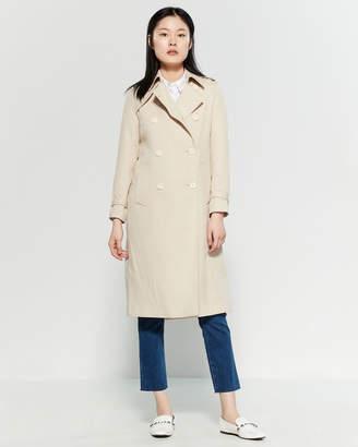 Sandro Dot Pattern Trench Coat
