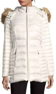 Kate Spade Faux Fur Trimmed Down Puffer Coat