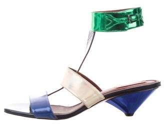 Missoni Metallic Leather Sandals