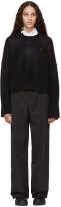 Raf Simons Black Cropped Sweater