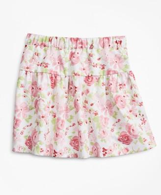 Brooks Brothers Girls Floral Print Cotton Skirt