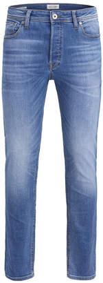 Jack and Jones Men Super Stretch Slim Fit Clark Jeans