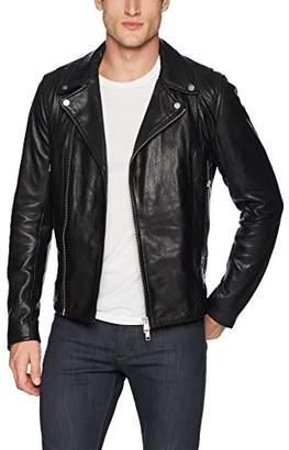 J. Lindeberg Men's Moto Leather Jacket