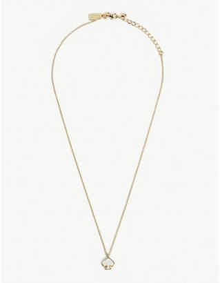 Kate Spade Signature Spade mini gold-plated pendant