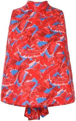 MSGM Palm print blouse